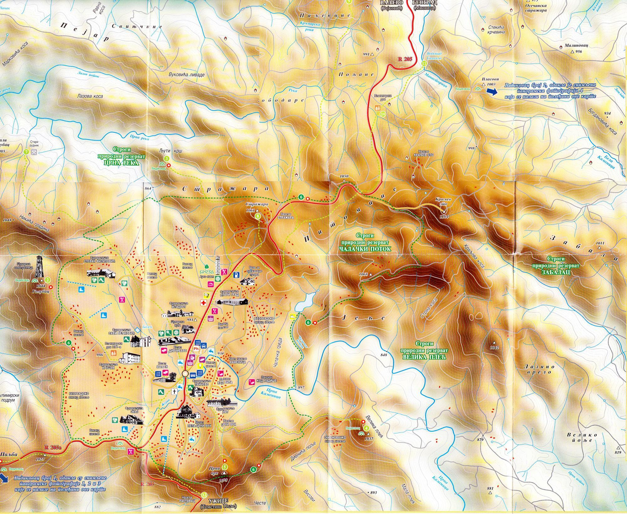 beograd divcibare mapa Divcibare Map   Divcibare Portal Mountain Divcibare beograd divcibare mapa